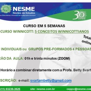 Curso Winnicott: 5 conceitos winnicottianos.
