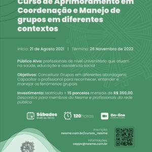 Curso de Aprimoramento em Coordenação e Manejo de Grupos em Diferentes Contextos